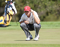 Stanford, Ca - Thursday, May 18, 2012: Stanford Golf plays in the NCAA Regionals held at the Stanford Golf Course. Patrick Rodgers