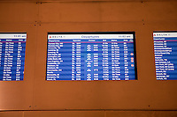 Delta Airlines departures are seen on a screen at Detroit Metropolitan Wayne County Airport, Wednesday June 26, 2013.