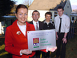 At the presentation of the AIB Better Ireland award to Scoil Mhuire Boys NS, Miltown for their Home School Liason Programme  were from left, Mary Ellen O'Connor, Project Coordinator, Brian Sugrue, AIB Killorglin, Joan Cashman and Denis Casey<br /> Picture: MacMonagle, Killarney