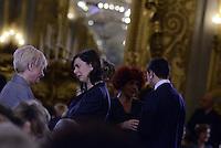 """Roma, 7 Marzo 2015<br /> Quirinale.<br /> Giornata internazionale dela donna, <br /> celebrazione dedicata al tema """"Donne per la Terra"""".<br /> Nella foto Laura Boldrini."""