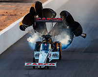 Feb 24, 2018; Chandler, AZ, USA; NHRA top fuel driver Steve Torrence during qualifying for the Arizona Nationals at Wild Horse Pass Motorsports Park. Mandatory Credit: Mark J. Rebilas-USA TODAY Sports