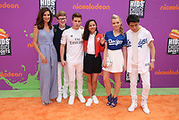 LOS ANGELES, CA July 13- Jama Williamson, Aidan Miner, Ricardo Hurtado, Breanna Yde, Jade Pettyjohn, Lance Kim, At Nickelodeon Kids' Choice Sports Awards 2017 at The Pauley Pavilion, California on July 13, 2017. Credit: Faye Sadou/MediaPunch