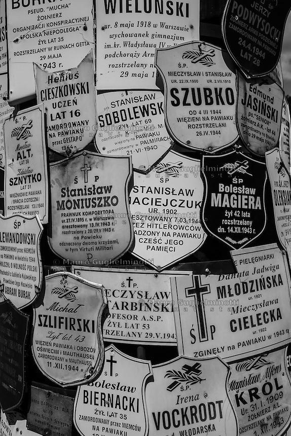 Varsavia, Warsaw, la famigerata prigione nazista di Pawiak, the notorious Pawiak nazi prison, l'albero dei ricordi