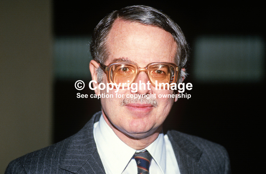 Robert Myers, junior, USA Consul-General, N Ireland, UK, 19880304RM..Copyright Image from Victor Patterson, 54 Dorchester Park, Belfast, UK, BT9 6RJ..Tel: +44 28 9066 1296.Mob: +44 7802 353836.Voicemail +44 20 8816 7153.Skype: victorpattersonbelfast.Email: victorpatterson@me.com.Email: victorpatterson@ireland.com (back-up)..IMPORTANT: If you wish to use this image or any other of my images please go to www.victorpatterson.com and click on the Terms & Conditions. Then contact me by email or phone with the reference number(s) of the image(s) concerned.