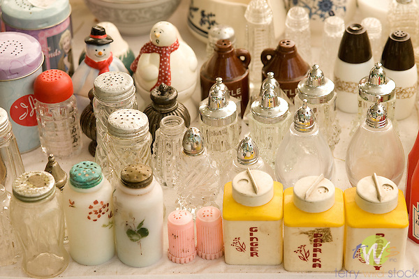 Flea market salt and pepper sets.