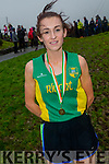 Shona Heslip from An Riocht AC takes Gold in the Ladies County Championships in Cahersiveen on Sunday.
