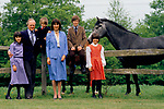 """Winston Churchill British politician with his first wife Mary """"Minnie"""" Caroline d'Erlanger and children. Broadwater House Chailey Sussex   Uk 1986<br /> <br /> L to R. <br /> Jennie Spencer-Churchill <br /> John Gerard Averell """"Jack"""" Spencer-Churchill <br /> Randolph Leonard Spencer-Churchill <br /> Marina Spencer-Churchill"""