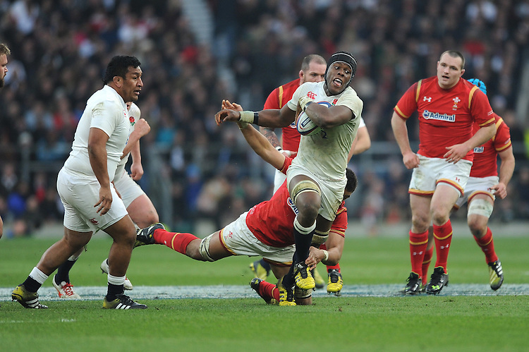 Maro Itoje of England in action during the RBS 6 Nations match between England and Wales at Twickenham Stadium on Saturday 12th March 2016 (Photo: Rob Munro/Stewart Communications)