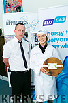 Apprentice Chef final at  IT Tralee on Thursday. Pictured Niamh McMahon, Mercy Mounthawk Tralee with Mike Murphy from Flo Gas