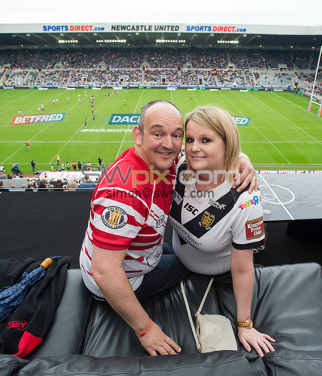 Picture by Allan McKenzie/SWpix.com - 20/05/2017 - Rugby League - Dacia Magic Weekend - St James' Park, Newcastle, England - The brief, Best Seat in the House.