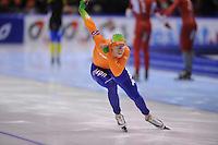SCHAATSEN: HEERENVEEN: IJsstadion Thialf, 11-01-2013, Seizoen 2012-2013, Essent ISU EK allround, 500m Men, Jan Blokhuijsen (NED), ©foto Martin de Jong