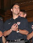 07 June 2006: U.S. defender Carlos Bocanegra (USA). The United States Men's National Team was honored at City Hall, the Rathaus, in Hamburg, Germany, where the team is based out of for the FIFA 2006 World Cup tournament.