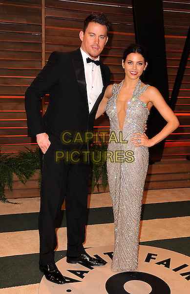 WEST HOLLYWOOD, CA - MARCH 2: Channing Tatum and Jenna Dewan arrive at the 2014 Vanity Fair Oscar Party in West Hollywood, California on March 2, 2014.  <br /> CAP/MPI/MPI213<br /> &copy;MPI213/MediaPunch/Capital Pictures
