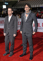 Director/writer/producers Joel Coen &amp; Ethan Coen at the world premiere of their movie &quot;Hail Caesar!&quot; at the Regency Village Theatre, Westwood.<br /> February 1, 2016  Los Angeles, CA<br /> Picture: Paul Smith / Featureflash