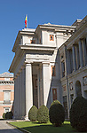 Classical architecture porch and portico, Museo del Prado, museum art gallery, Madrid, Spain