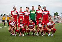 The Washington Spirit lines up before the game at the Maryland SoccerPlex in Boyds, Md.   Chicago defeated Washington, 2-0.