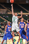 North Texas Mean Green guard Desiree Nelson (32) in action during the game between the Texas Arlington Mavericks and the North Texas Mean Green at the Super Pit arena in Denton, Texas. UTA defeats UNT 59 to 50...