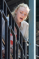 Dakota Fanning on the set of &quot;Very Good Girls&quot; in Brooklyn, New York, 12.07.2012...Credit: Rolf Mueller/face to face /MediaPunch Inc. ***FOR USA ONLY*** ***Online Only for USA Weekly Print Magazines*** /*NORTEPHOTO*<br />