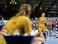 Handball 1. Bundesliga Frauen / Damen - DHB - Punktspiel - HC Leipzig (HCL) : Thüringer HC (THC) - Arena Leipzig - im Bild:    HCL Spielerin Sara Eriksson.   Foto: Norman Rembarz..Norman Rembarz , Autorennummer 41043728 , Augustenstr. 2, 04317 Leipzig, Tel.: 01794887569, Hypovereinsbank: BLZ: 86020086, KN: 357889472, St.Nr.: 231/261/06432 - Jegliche kommerzielle Nutzung ist honorar- und mehrwertsteuerpflichtig! Persönlichkeitsrechte sind zu wahren. Es wird keine Haftung übernommen bei Verletzung von Rechten Dritter. Autoren-Nennung gem. §13 UrhGes. wird verlangt. Weitergabe an Dritte nur nach  vorheriger Absprache. Online Nutzung ist separat kostenpflichtig !.