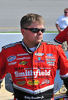 May 2, 2008; Richmond, VA, USA; NASCAR Nationwide Series driver Bobby Hamilton Jr during the Lipton Tea 250 at the Richmond International Raceway. Mandatory Credit: Mark J. Rebilas-