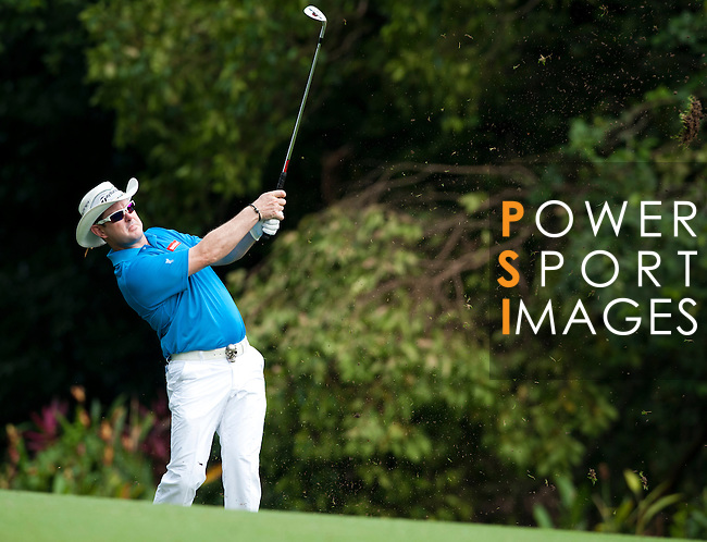 Rory Sabbatini in action during Round 1 of the CIMB Asia Pacific Classic 2011.  Photo © Andy Jones / PSI for Carbon Worldwide