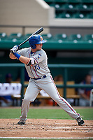 St. Lucie Mets third baseman Dale Burdick (13) at bat during a game against the Lakeland Flying Tigers on June 11, 2017 at Joker Marchant Stadium in Lakeland, Florida.  Lakeland defeated St. Lucie 1-0.  (Mike Janes/Four Seam Images)