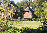 Thatched historic country cottage, Fifield, near Netheravon, Wiltshire, England, UK