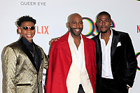 "LOS ANGELES - FEB 7:  Karamo Brown, sons at the ""Queer Eye"" Season One Premiere Screening at the Pacific Design Center on February 7, 2018 in West Hollywood, CA"