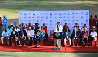 President Uhuru Kenyatta makes a speech during prize giving after the final round of the Magical Kenya Open, Karen Country Club, Nairobi, Kenya. 17/03/2019<br /> Picture: Golffile | Phil Inglis<br /> <br /> <br /> All photo usage must carry mandatory copyright credit (&copy; Golffile | Phil Inglis)