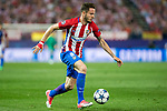 Saul Iniguez of Atletico de Madrid  during the match of  Champions LEague between  Atletico de Madrid and LEicester City Football Club at Vicente Calderon  Stadium  in Madrid, Spain. April 12, 2017. (ALTERPHOTOS / Rodrigo Jimenez)