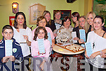 enjoying the fundraising night at the Saddle bar Listowel on Saturday were Daniel, Helena , and De?na Costello, Joanne McElligott, Noreen Lynch, Ann Enright, Ester McElligott, martina Molyneaux, Maria O'Brien, Maria Molyneaux and Marie Lynch...   Copyright Kerry's Eye 2008