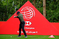 Rory McIlroy (NIR) on the 9th tee during the 1st round at the WGC HSBC Champions 2018, Sheshan Golf Club, Shanghai, China. 25/10/2018.<br />