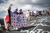 roadside fans up the Puy Mary (uphill finish)<br /> <br /> Stage 13 from Châtel-Guyon to Pas de Peyrol (Le Puy Mary) (192km)<br /> <br /> 107th Tour de France 2020 (2.UWT)<br /> (the 'postponed edition' held in september)<br /> <br /> ©kramon
