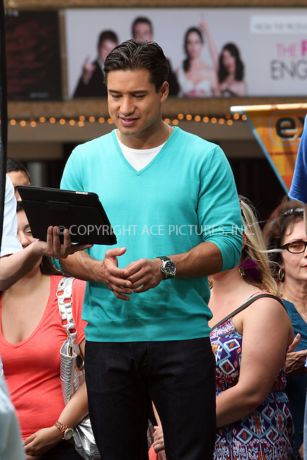 WWW.ACEPIXS.COM . . . . .  ....May 9 2012, LA....Actor Mario Lopez at a taping of 'Extra' tv show live at The Grove on May 9 2012 in LA....Please byline: Zelig Shaul - ACE PICTURES.... *** ***..Ace Pictures, Inc:  ..Philip Vaughan (212) 243-8787 or (646) 769 0430..e-mail: info@acepixs.com..web: http://www.acepixs.com