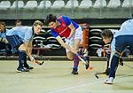 Almere - Zaalhockey  Laren-SCHC (heren)   .  Steef Stroeken (SCHC) .TopsportCentrum Almere.    COPYRIGHT KOEN SUYK