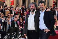 Orlando Bloom, Elijah Wood, Evangeline Lilly, Peter Jackson, Andy Serkis<br />