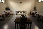 Israel, Shephelah, the Trappist Monastery in Latrun, the dining room.