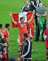 25.05.2013 London, England. Claudio Pizarro celebrates after Bayern Munich's win in the 2013 UEFA Champions League Final between Bayern Munich and Borussia Dortmund from Wembley Stadium. Picture Credit: Tommy Grealy/actionshots.ie