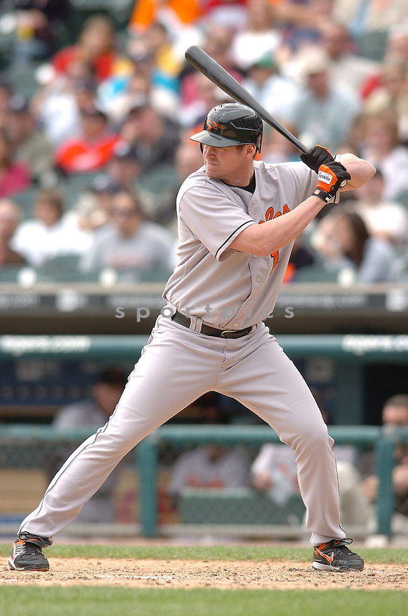 AUBREY HUFF, of the Baltimore Orioles , in action during the Orioles game against the Detroit Tigers on May 2, 2007 in Detroit, Tigers...Tigers win 5-4...Chris Bernacchi/ SportPics..