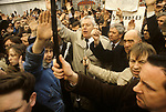 Rev Ian Paisley Belfast The Troubles 1980s Northern Ireland 1981 Protests demonstration led by Ian Paisley in Belfast city centre 1981.