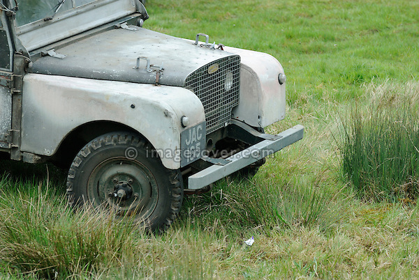 Original unrestored Land Rover Series 1 80in JAC 165. On show at the Gaydon Heritage Land Rover Show 2006. Europe, England, UK. --- No releases available. Automotive trademarks are the property of the trademark holder, authorization may be needed for some uses.