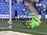 Reading's Rafael dives to cover Blackburn Rovers' Bradley Johnson shot at goal<br /> <br /> Photographer David Horton/CameraSport<br /> <br /> The EFL Sky Bet Championship - Reading v Blackburn Rovers - Saturday 21st September 2019 - Madejski Stadium - Reading<br /> <br /> World Copyright © 2019 CameraSport. All rights reserved. 43 Linden Ave. Countesthorpe. Leicester. England. LE8 5PG - Tel: +44 (0) 116 277 4147 - admin@camerasport.com - www.camerasport.com