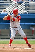 August 25 2008:  First baseman Jim Murphy of the Williamsport Crosscutters, Class-A affiliate of the Philadelphia Phillies, during a game at Dwyer Stadium in Batavia, NY.  Photo by:  Mike Janes/Four Seam Images
