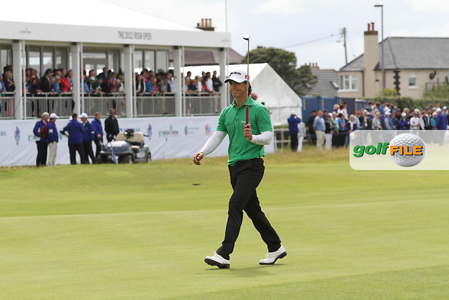 Thorbjorn Olesen (DEN) on the 18th on Day 4 of the 2012 Irish Open at Royal Portrush Golf Club, Portrush, Co.Antrim, 1/7/12...(Photo Jenny Matthews/www.golffile.ie)