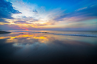 Sunrise and Surf reflection, Pawleys Island
