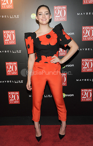 New York, NY-September 8:  Willow Shields attends Instyle 20th Anniversary Party on September 8, 2014 at Diamond Horseshoe at the Paramount Hotel in New York City.  Credit: John Palmer/MediaPunch