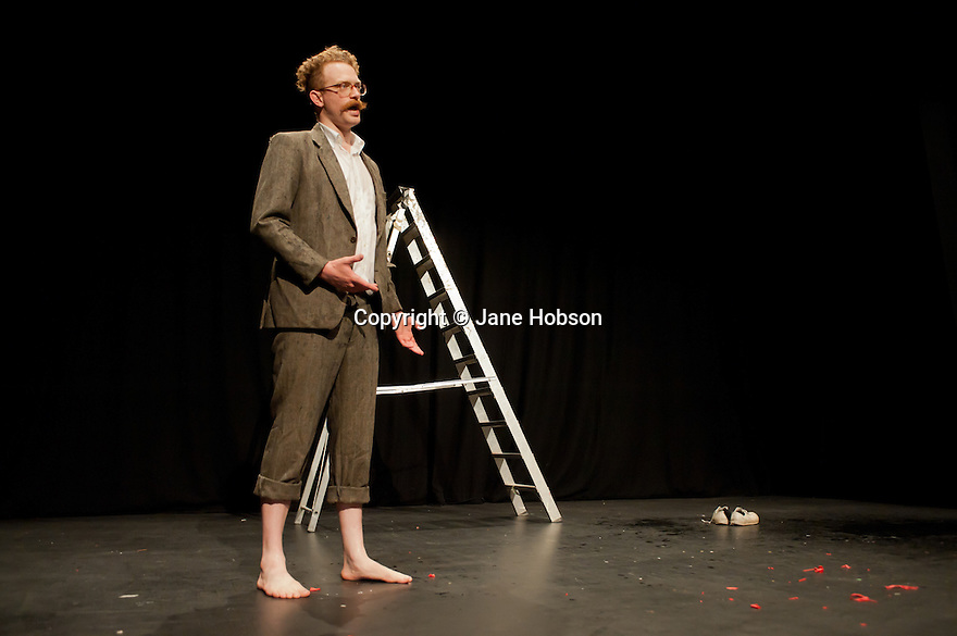"London, UK. 9/7/11. Ed Rapley, presents ""10 Ways to Die On Stage"" at Jacksons Lane, as part of their Postcards Festival."