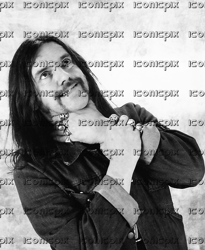Motorhead - Lemmy Kilmister - promotional photosession for Rock'n'Roll in London UK - 22 Jul 1987.  Photo by: George Chin/IconicPix