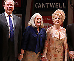John Larroquette, Candice Bergen & Angela Lansbury.during the Broadway Opening Night Performance Curtain Call for 'Gore Vidal's The Best Man' at the Gerald Schoenfeld Theatre in New York City on 4/1/2012