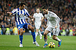 Real Madrid´s Isco (R) during La Liga match at Santiago Bernabeu stadium in Madrid, Spain. February 14, 2015. (ALTERPHOTOS/Victor Blanco)